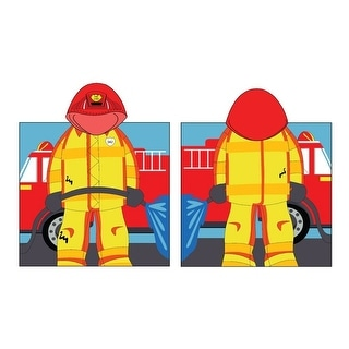Kreative Kids Boys Girls Fireman Cap Bath Towel One Size - One Size