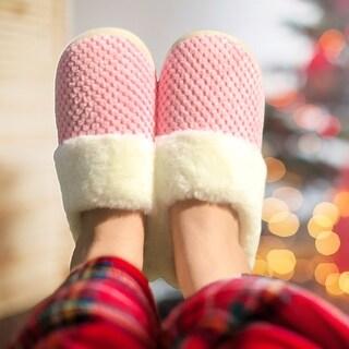 Dasein Women Comfort Fuzzy Plush Lining Memory Foam Slippers