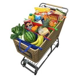 Zelancio Shopping Sherpa Reusable Grocery Bag Trolley Bag Set