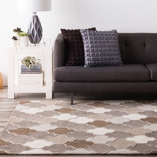 Hand-tufted Moroccan Elephant Wool Area Rug