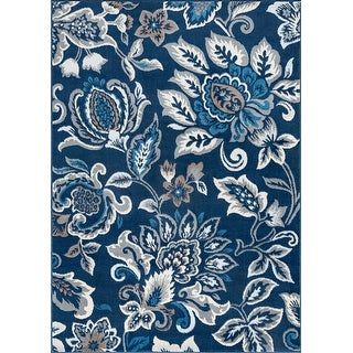 Alise Rugs Carrington Traditional Floral Area Rug