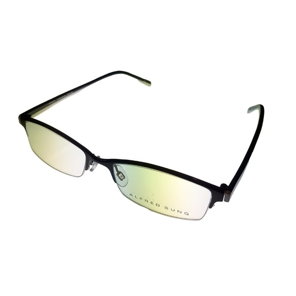 alfred sung opthalmic eyeglass rectangle rimless black