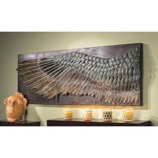 Design Toscano Wing of Icarus Sculptural Metal Wall Frieze - 36.5 x 2.5 x 13.5