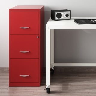 Space Solutions Lava Red 3-Drawer Vertical File Cabinet