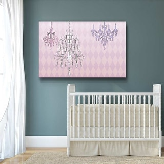 Crystal Palace Pink Gallery Wrapped Canvas