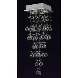 Modern Crystal Rain Drop Chandelier 4 Lights with 40MM Crystal Balls
