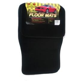 Simoniz Automobile Carpet Floor Mats 4-piece Set Black