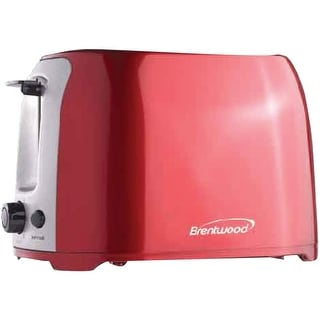 Brentwood appliances ts-292r 2-slice cool-touch toaster with extra-wide slots (red and stainless steel)