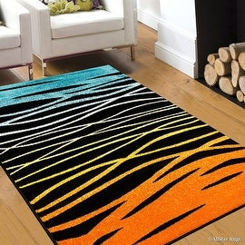 "AllStar Woven High Quality Colorfun. Burst of Colors. Contemporary. Modern. Geometric. Transitional Design Rug (7' 10"" x 10')"