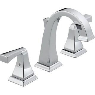 Delta 3551LF Dryden Widespread Bathroom Faucet with Metal Drain