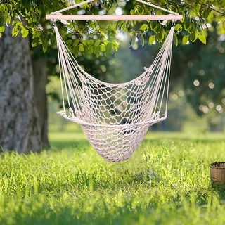 "35"" Cotton Hanging Rope Air/Sky Chair Swing"
