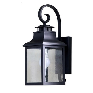 Morgan 1 Light Exterior Wall Lamp in Black Finish