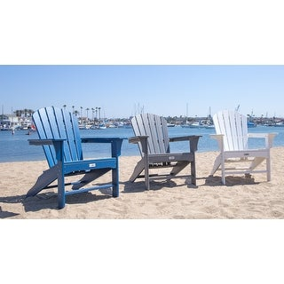 LuXeo Hampton Poly Outdoor Patio Adirondack Chair