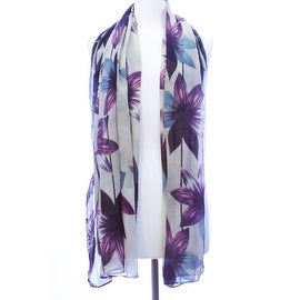 Flower Oblong LIghtweight Scarf