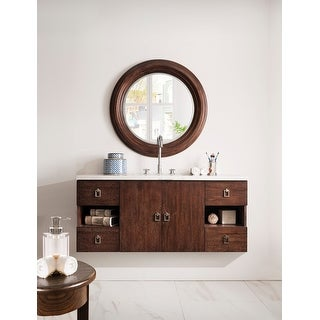 Sonoma 48-inch Coffee Oak Floating Single Vanity