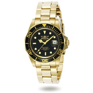 Invicta Men's 9311 'Pro Diver' Gold-Tone Stainless Steel Watch
