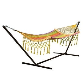 Sunnydaze Thick Cord Mayan Hammock with Curved Spreader Bars