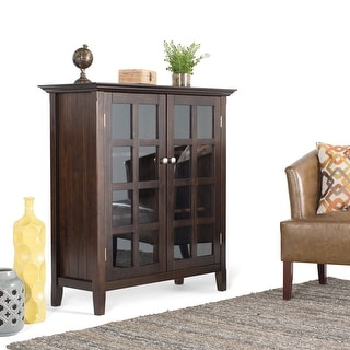 "WYNDENHALL Normandy SOLID WOOD 39 inch Wide Rustic Medium Storage Cabinet - 39""w x 17""d x 42.2""h"