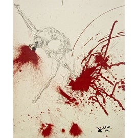 The Battle With the Wineskins, 1957 Limited Edition, Lithograph, Salvador Dali