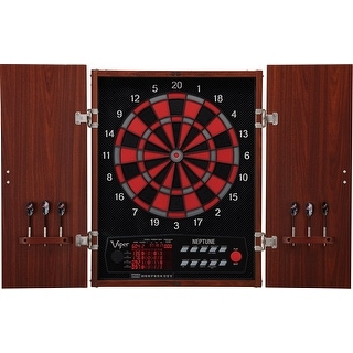 Viper Neptune Regulation Size Soft Tip Electronic Dartboard with Wood Cabinet / 42-1023