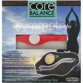 Red Core Balance Power Silicone Wristband in Large