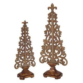 "Set of 2 Bronze Vine Tabletop Christmas Tree Decors 19.5"""
