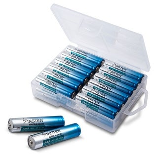 Premium AAA Batteries - 24 Count Alkaline Triple A 1.5V Battery in Storage Case