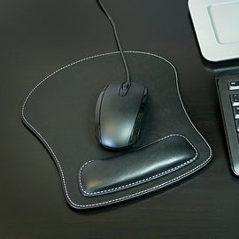 Leather Mouse Pad with Wrist Rest