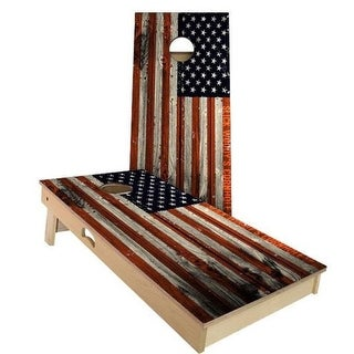 American Flag Distressed Cornhole Set - Choose Your Size & Accessories