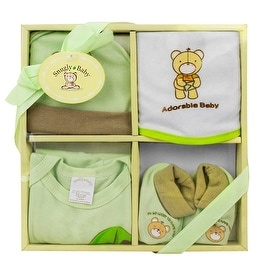 4-Piece Baby Gift Set, Green