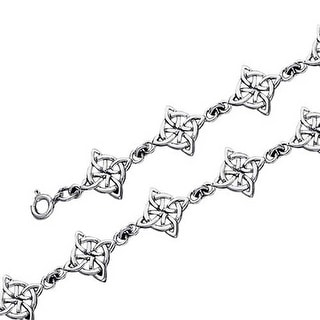 Inspirational Triquetra Trinity Irish Bff Love Knot Celtic Link Bracelet For Women For Teen 925 Sterling Silver