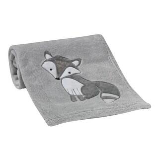 Bedtime Originals Little Rascals Gray Fox Soft Baby Blanket