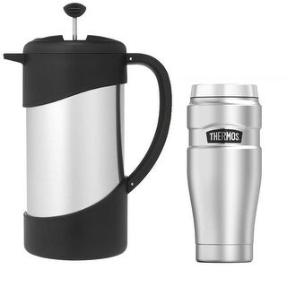Thermos Vacuum Insulated 34oz Coffee Press and 16oz Insulated Travel Tumbler