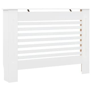 "vidaXL Radiator Cover White 44.1""x7.5""x32.1"" MDF"