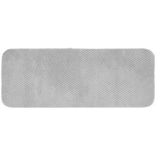Cabernet Platinum Grey Nylon Washable Bath Rug