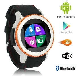 Indigi® 3G (Factory Unlocked) Android 4.4 Waterproof 2-in-1 SmartWatch & Phone w/ WiFi & Bluetooth Sync Capability + Google Play