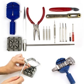 16pcs Watch Repair Tool Kit Link Remover Spring Bar Tool Screwdriver Case Opener - Does not apply