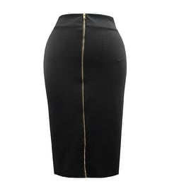 Hot Gal Women's Plus Size Scuba Stretchy Bodycon Pencil Evening Midi Skirt