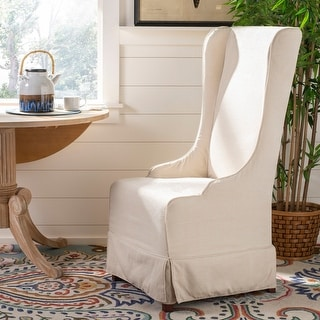 Safavieh Dining Deco Bacall Ivory Slip Cover Dining Chair