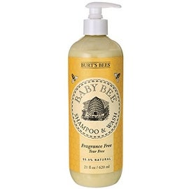 Burt's Bees Baby Bee Shampoo & Wash, Fragrance Free 21 oz