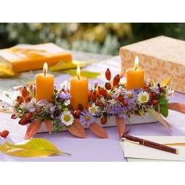 """LED Lighted Floral and Berries Candle Centerpiece Canvas Wall Art 11.75"""" x 15.75"""""""