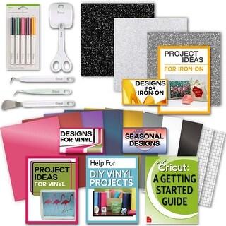 Cricut Tools Bundle-Vinyl Pack, Basic Tools & Cricut Explore Pens, Guide
