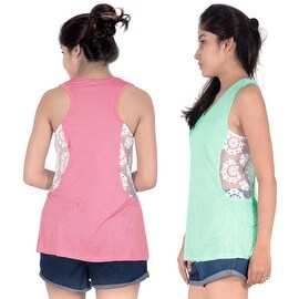 Womens Sleeveless Top Lace Blouse Ladies Casual Tank Tops V-neck Summer Fashion Sexy T-Shirt
