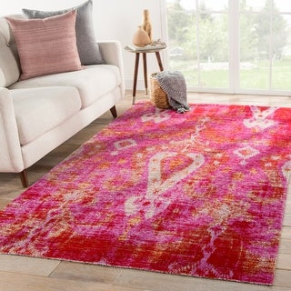 The Curated Nomad Leona Indoor/ Outdoor Ikat Pink Area Rug