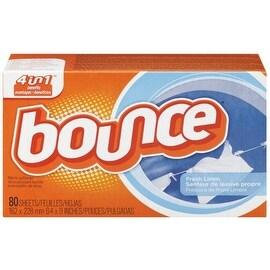Bounce Fabric Softener Sheets, Fresh Linen 80 ea