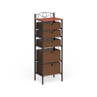 Copper Grove Stoyoma Wicker 5-drawer Storage Unit