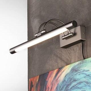 Gracili 8W LED Picture Light, Plug-in/Hardwire, 3000K Warm White, Satin Nickel