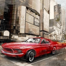 Red Rocket (Detail) by Ivan Baldo Architecture Art Print
