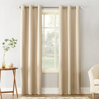 Sun Zero Cooper Thermal Insulated Room Darkening Grommet Curtain Panel