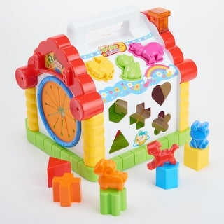 Educational Activity Center Toy Learning Shape Sorter House Play Toy with Tons - multi-color